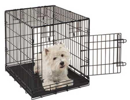Jaula met lica plegable para perros daxipets for Jaulas de perros